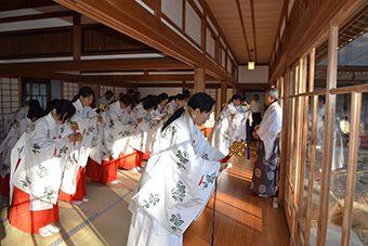 あけの舞、七福の舞冬期研修会、あけの舞奉納式と直会交流会1