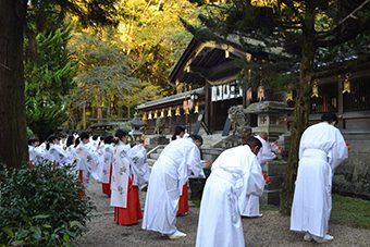 あけの舞、七福の舞冬期研修会、あけの舞奉納式と直会交流会2